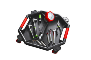 Tool Creeper Rolling Tool Caddy Garage Mechanic Shop Tray Tools Auto Magnetic