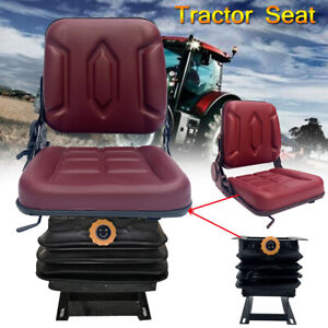 Lawn Mower Tractor Seat Garden Tractor Slidable W back Rest Suspension Utv atv