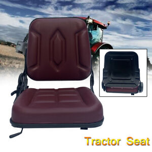 Lawn Mower Tractor Seat Garden Tractor Slidable W Back Rest Waterproof Utv atv