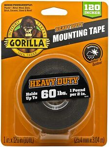 Gorilla Heavy Duty Mounting Tape 120 Up To 60 Lbs New