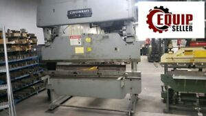 Cincinnati Press Brake 50 Ton 8ft Bed Back Gauge Machine Free Loading