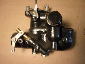 Late 1931 Model A Ford Zenith 2 Side Bowl Carburetor Indented Firewall Holley