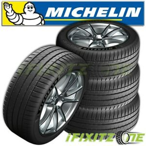 4 Michelin Pilot Sport 4s 295 35r19 104y Performance Tires 30000 Mile Warranty
