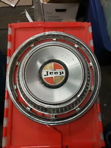 Jeep Vintage Hubcaps Set Of Four 15 Inch
