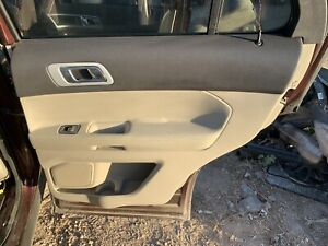 2012 Ford Explorer Limited Door Trim Panel Rear Rh Passenger