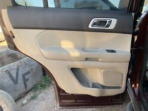 2012 Ford Explorer Limited Rear Door Trim Panel Left