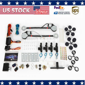 Universal12v Electric 2 Door Power Motor Window Lifter 4 Lock Conversion Set Us