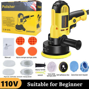 5 Dual Action Car Polisher Buffer Sander Da Orbital Polishing Machine Bonnet Us