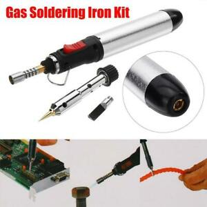 4in1 Gas Soldering Iron Set Butane Cordless Welding Ht 1 Torch Too Fast Y2b2