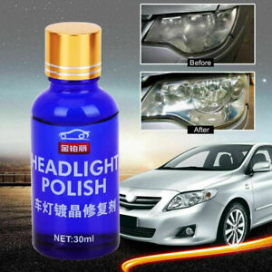 30ml Car Headlight Polish Repair Fluid Maintenance Clean Retreading Agent Spray