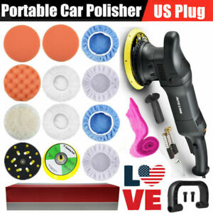 700w Dual Action Orbital Car Polisher Buffer Sander Machine 6 Polishing Pads