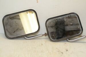 Vintage Ford Truck Outside Side Mirror Rear View Pair Matched Set