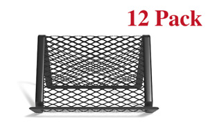 New Staples Business Card Holder Stand For Desk Mesh Matte Black Wire 12pack