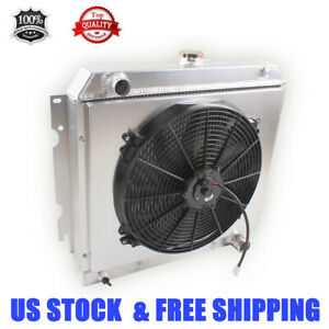 All Aluminum Radiator shroud fan Fit Chevrolet Chevy Ii Nova Base ss 1962 1967