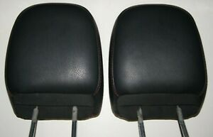 2010 2012 Dodge Nitro Jeep Liberty Rear Seat Black Red Leather Headrest Set