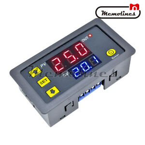 12v Thermostat Cycle Timer Delay Dual Display Relay Module Red And Blue