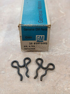 Oem Corvette New Parking Brake Cable Mickey Mouse Clip 1963 1982 3875092 Qty 2