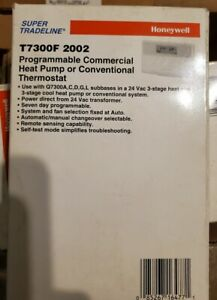 Honeywell T7300f 2002 Commercial Programmable Heat Conventional Thermostat