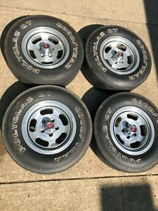 Original 1971 1972 1973 Ford Mustang Optional Slotted Aluminum Wheels Factory
