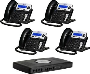 Xblue 2022 04 ch X16 System Bundle With 4 Phone New And Unused