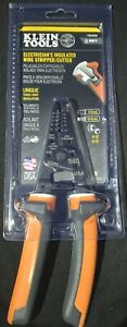 New Klein Tools Electrician s Insulated Wire Stripper cutter 11054eins 1000v