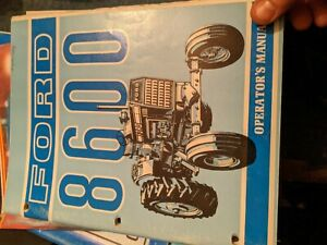 Ford 8600 8000 9000 Operators Owners Manual Tractor Maintenance Lubrication