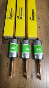 lot Of 3 Bussmann Fuse Fusetron Frs r 125 125 Amp 600 Vac Time Delay