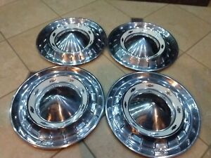 Set Of 4 1955 Chevrolet Chevy Nomad Belair Hubcaps Wheel Covers Very Nice 55