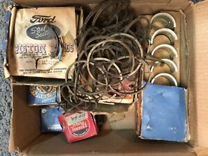 1937 1938 1939 Ford 60hp V 8 Box Lot Of Rings Bearings Water Pump Kit Studs