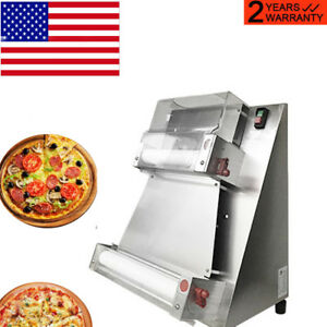 Automatic Pizza Dough Roller Sheeter pizza Making Machine 370w Commercial