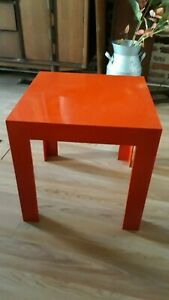 Red Syroco Molded Parsons Table Rare