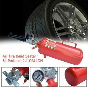 8l Portable 2 1 Gallon Blaster Tire Bead Seater Air Tank Seating Tool 116psi Red