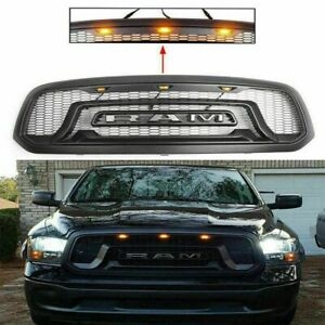 Grille For Dodge Ram 1500 2013 2018 Rebel Style Abs Honeycomb Bumper Black