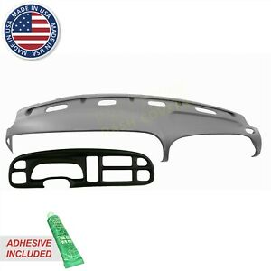 Dash Cover Dodge Ram Molded Skin Overlay With Bezel Cover 99 00 01 Mistgrey c3