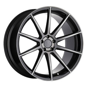 Mandrus Klass 20x8 5 5x112 Et42 Gloss Gunmetal W Machined Tinted Face Qty Of 1