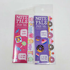 Ooly Note Pals Sticky Tabs Set Of 2 Candy Shoppe And Donuts Cupcakes