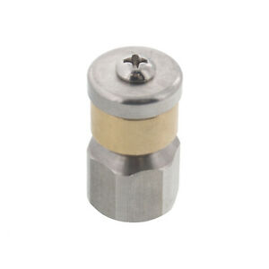 Erie Tools Rotating 1 4 Sewer Jetter Nozzle For Drain Cleaning 2 0 Orifice