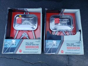 Nos Vintage Door Mirrors Pickup Truck Van Gm Ford Chevy Gmc C10 Rare