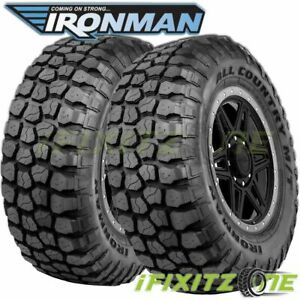 2 Ironman All Country M T 35x12 50r18 E 10 123q 4wd Truck All Season Mud Tires