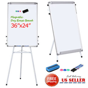Portable Height Adjustable Tripod Magnetic Whiteboard Dry Erase Board W Stand