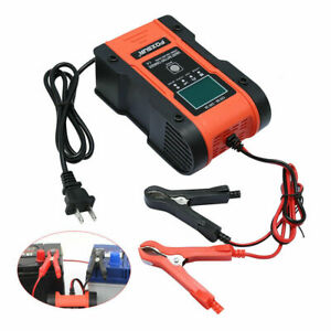 Lcd Battery Charger 12v 24v For Lithium Lifepo4 Agm Automatic Car Atv Motorcycle