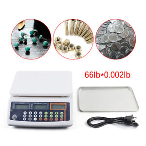 66lb X0 002lb Parts Counting Bench Scale Precision Digital Weighing Balance 60hz