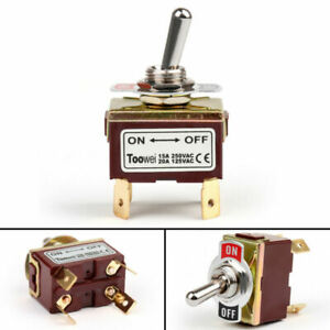 1pc 2 Terminal 4pin On off 15a 250v Toggle Switch Boot Dpst Industrial Grade Usa