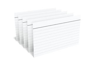 New Tru Red 3 X 5 Index Cards Legal Ruled White 100 pack lot Of 5 500 Total