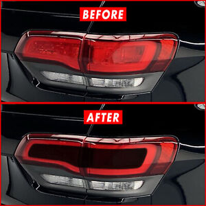 For 14 21 Jeep Grand Cherokee Center Tail Light Smoke Precut Vinyl Tint Overlays