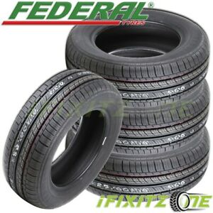4 Federal Ss657 225 60r15 96h Ultra High Performance uhp Tires
