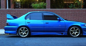 1993 1994 1995 1996 1997 Toyota Corolla Trd Gtec Style Side Skirts Lip Body Kit
