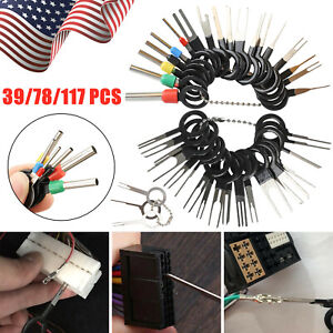 117pcs Car Terminal Removal Tool Kit Wire Connector Pin Release Extractor Puller
