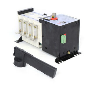 Ats 160a 4 Pole Dual Power Automatic Changeover Transfer Switch 37v 440v 2000m