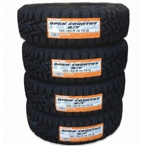 4x 155 65r14 Toyo Open Country R t 14 Tires Snow Mud Suv Tire